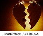 Broken Paper Heart Hanging On...