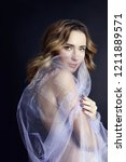 naked woman art in lilac light... | Shutterstock . vector #1211889571