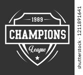 champions league badge | Shutterstock .eps vector #1211891641