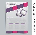 flyer template. design for a...   Shutterstock .eps vector #1211894524