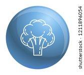 broccoli icon. outline broccoli ... | Shutterstock .eps vector #1211896054