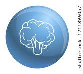 natural broccoli icon. outline... | Shutterstock .eps vector #1211896057