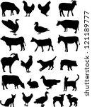 Stock vector farm animals collection vector 121189777
