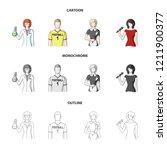 woman chemist  football player  ... | Shutterstock . vector #1211900377