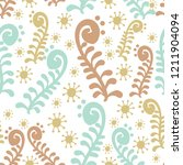 seamless pattern with abstract... | Shutterstock .eps vector #1211904094