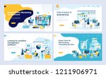 set of landing page template... | Shutterstock .eps vector #1211906971