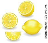 lemons  four views. fresh ... | Shutterstock .eps vector #121191295