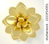 3d rendering gold succulent... | Shutterstock . vector #1211914351