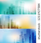 city background architectural... | Shutterstock .eps vector #1211927584