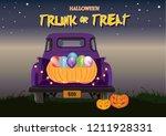 halloween trunk or treat | Shutterstock .eps vector #1211928331