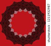 round wreath composition frame... | Shutterstock . vector #1211932987