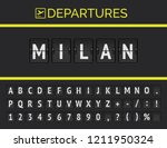 analog airport flip board... | Shutterstock .eps vector #1211950324