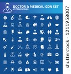 doctor and medical vector icon... | Shutterstock .eps vector #1211958007