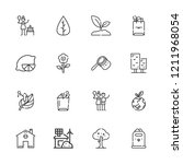 collection of 16 eco outline... | Shutterstock .eps vector #1211968054