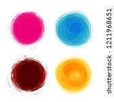 vector watercolor background.... | Shutterstock .eps vector #1211968651