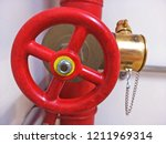 The Red Fire Valve And Pipe In...