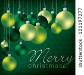 Bright Group Of Baubles Card In ...