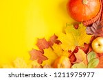 autumn background of free space ... | Shutterstock . vector #1211975977