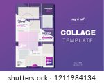puzzle endless design template... | Shutterstock .eps vector #1211984134