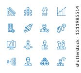 collection of 16 management... | Shutterstock .eps vector #1211985514