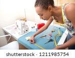 beautiful creative young... | Shutterstock . vector #1211985754