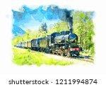 Ancient Steam Train Running On...