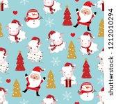 cute sheep wear christmas hat ... | Shutterstock .eps vector #1212010294