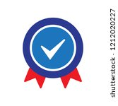 approved certified icon.... | Shutterstock .eps vector #1212020227