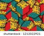 multicolored cubes with ornament | Shutterstock . vector #1212022921