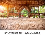 Yoga Hall With Drought Earth...