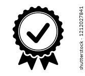 black icon approved or... | Shutterstock .eps vector #1212027841