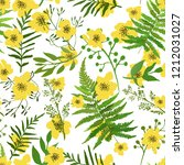 seamless floral background.... | Shutterstock .eps vector #1212031027