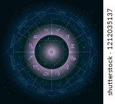 illustration with horoscope... | Shutterstock .eps vector #1212035137
