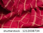 scottish tartan pattern. red... | Shutterstock . vector #1212038734