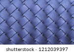 blue leather woven texture... | Shutterstock . vector #1212039397
