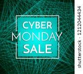 cyber monday sale banner... | Shutterstock .eps vector #1212044434