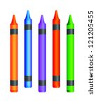 crayons vector illustration | Shutterstock .eps vector #121205455