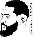 bearded afro men face   Shutterstock .eps vector #1212066694