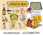 cookies for santa | Shutterstock .eps vector #1212080794