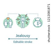 jealousy concept icon.... | Shutterstock .eps vector #1212081871