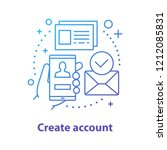 account creating concept icon.... | Shutterstock .eps vector #1212085831