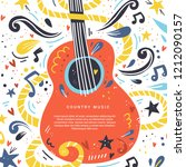 illustration with acoustic... | Shutterstock .eps vector #1212090157