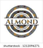 almond arabesque emblem... | Shutterstock .eps vector #1212096271
