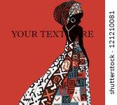 beautiful african woman | Shutterstock .eps vector #121210081
