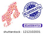handmade craft composition of... | Shutterstock .eps vector #1212102031