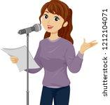 illustration of a teenage girl... | Shutterstock .eps vector #1212104071