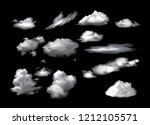 collection of white clouds... | Shutterstock .eps vector #1212105571