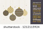 christmas greeting card  ... | Shutterstock .eps vector #1212115924