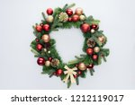 top view of decorative festive... | Shutterstock . vector #1212119017