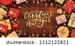 merry christmas and happy new... | Shutterstock .eps vector #1212122821